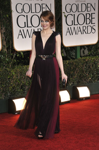 """""""The Golden Globe Awards - 69th Annual"""" (Arrivals) Emma Stone1-15-2012 © 2012 Jean Cummings - Image 24150_0225"""