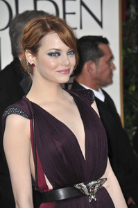 """""""The Golden Globe Awards - 69th Annual"""" (Arrivals) Emma Stone1-15-2012 © 2012 Jean Cummings - Image 24150_0226"""