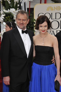 """The Golden Globe Awards - 69th Annual"" (Arrivals) Hugh Bonneville, Elizabeth McGovern1-15-2012 © 2012 Jean Cummings - Image 24150_0249"
