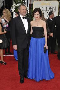 """The Golden Globe Awards - 69th Annual"" (Arrivals) Hugh Bonneville, Elizabeth McGovern1-15-2012 © 2012 Jean Cummings - Image 24150_0250"