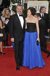 """The Golden Globe Awards - 69th Annual"" (Arrivals) Hugh Bonneville, Elizabeth McGovern1-15-2012 © 2012 Jean Cummings - Image 24150_0252"