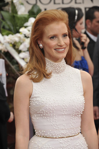 """""""The Golden Globe Awards - 69th Annual"""" (Arrivals) Jessica Chastain1-15-2012 © 2012 Jean Cummings - Image 24150_0268"""