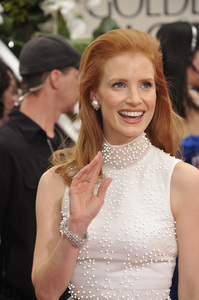 """""""The Golden Globe Awards - 69th Annual"""" (Arrivals) Jessica Chastain1-15-2012 © 2012 Jean Cummings - Image 24150_0269"""
