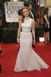 """""""The Golden Globe Awards - 69th Annual"""" (Arrivals) Jessica Chastain1-15-2012 © 2012 Jean Cummings - Image 24150_0270"""