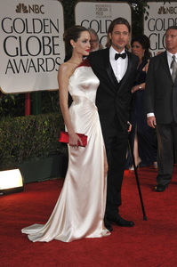 """The Golden Globe Awards - 69th Annual"" (Arrivals) Angelina Jolie, Brad Pitt1-15-2012 © 2012 Jean Cummings - Image 24150_0279"