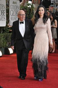 """""""The Golden Globe Awards - 69th Annual"""" (Arrivals) Rupert Murdoch, Wendi Deng1-15-2012 © 2012 Jean Cummings - Image 24150_0347"""