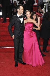 """The Golden Globe Awards - 69th Annual"" (Arrivals) Benjamin Millepied, Natalie Portman1-15-2012 © 2012 Jean Cummings - Image 24150_0379"