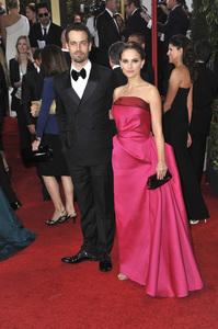 """The Golden Globe Awards - 69th Annual"" (Arrivals) Benjamin Millepied, Natalie Portman1-15-2012 © 2012 Jean Cummings - Image 24150_0380"