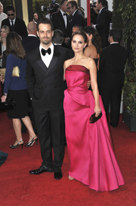 """The Golden Globe Awards - 69th Annual"" (Arrivals) Benjamin Millepied, Natalie Portman1-15-2012 © 2012 Jean Cummings - Image 24150_0381"
