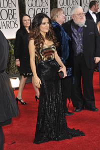 """The Golden Globe Awards - 69th Annual"" (Arrivals) Salma Hayek1-15-2012 © 2012 Jean Cummings - Image 24150_0395"