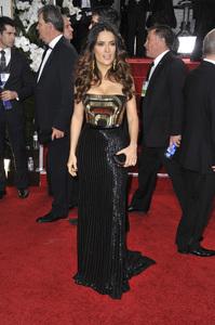 """The Golden Globe Awards - 69th Annual"" (Arrivals) Salma Hayek1-15-2012 © 2012 Jean Cummings - Image 24150_0399"