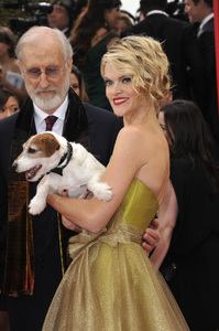 """""""The Golden Globe Awards - 69th Annual"""" (Arrivals) James Cromwell, Uggie, Missi Pyle1-15-2012 © 2012 Jean Cummings - Image 24150_0426"""
