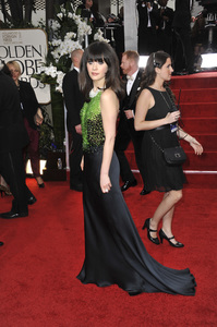 """The Golden Globe Awards - 69th Annual"" (Arrivals) Zooey Deschanel1-15-2012 © 2012 Jean Cummings - Image 24150_0442"