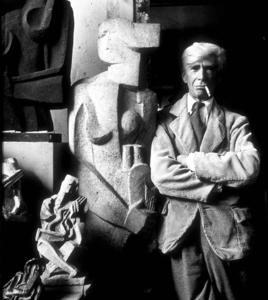 Sculptor Ossip Zadkine in Paris, France, circa 1950. © 1978 Sanford Roth, LACMAMPTV  - Image 2415_0004