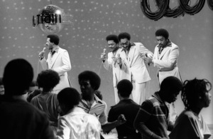 The Four Tops appearing on Soul Train circa 1970