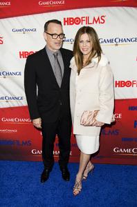 """""""Game Change"""" PremiereTom Hanks, Rita Wilson3-7-2012 / Ziegfeld Theater / HBO / New York NY / Photo by Eric Reichbaum - Image 24183_0292"""