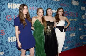 """Girls"" PremiereZosia Mamet, Jemima Kirke, Lena Dunham, Allison Williams4-4-2012 / School of Visual Arts / HBO / New York NY / Photo by Eric Reichbaum - Image 24204_0144"