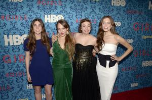 """Girls"" PremiereZosia Mamet, Jemima Kirke, Lena Dunham, Allison Williams4-4-2012 / School of Visual Arts / HBO / New York NY / Photo by Eric Reichbaum - Image 24204_0145"