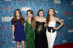"""Girls"" PremiereZosia Mamet, Jemima Kirke, Lena Dunham, Allison Williams4-4-2012 / School of Visual Arts / HBO / New York NY / Photo by Eric Reichbaum - Image 24204_0146"