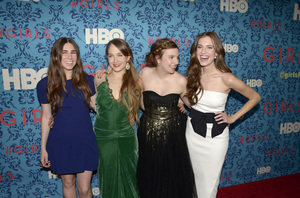 """Girls"" PremiereZosia Mamet, Jemima Kirke, Lena Dunham, Allison Williams4-4-2012 / School of Visual Arts / HBO / New York NY / Photo by Eric Reichbaum - Image 24204_0147"