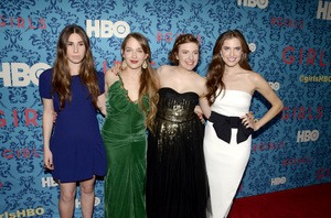 """Girls"" PremiereZosia Mamet, Jemima Kirke, Lena Dunham, Allison Williams4-4-2012 / School of Visual Arts / HBO / New York NY / Photo by Eric Reichbaum - Image 24204_0148"