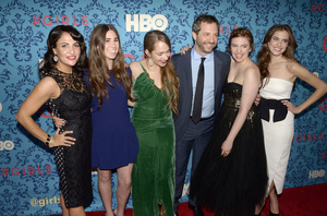 """Girls"" PremiereJenni Konner, Zosia Mamet, Jemima Kirke, Judd Apatow, Lena Dunham, Allison Williams4-4-2012 / School of Visual Arts / HBO / New York NY / Photo by Eric Reichbaum - Image 24204_0152"