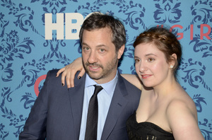"""Girls"" PremiereJudd Apatow, Lena Dunham4-4-2012 / School of Visual Arts / HBO / New York NY / Photo by Eric Reichbaum - Image 24204_0153"