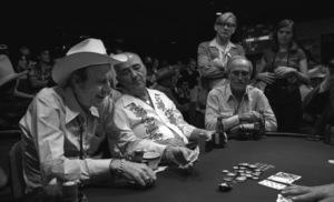 """""""Amarillo Slim"""" Preston with Johnny Mosscirca 1977© 1978 Ulvis Alberts - Image 24212_0002"""