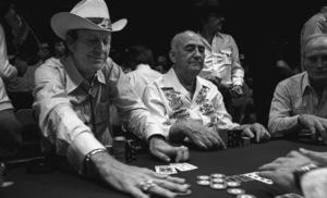 """""""Amarillo Slim"""" Preston with Johnny Mosscirca 1977© 1978 Ulvis Alberts - Image 24212_0003"""
