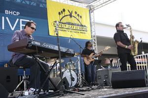 Jeff Lorber performing live at Baldwin Hills Crenshaw Plaza (pre-Playboy jazz concert) 05-27-2012© 2012 Michael Jones - Image 24222_0004