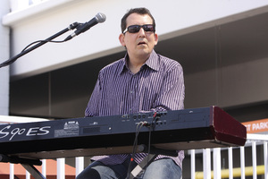 Jeff Lorber performing live at Baldwin Hills Crenshaw Plaza (pre-Playboy jazz concert) 05-27-2012© 2012 Michael Jones - Image 24222_0010
