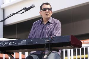 Jeff Lorber performing live at Baldwin Hills Crenshaw Plaza (pre-Playboy jazz concert) 05-27-2012© 2012 Michael Jones - Image 24222_0010