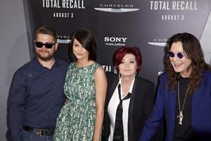 """Total Recall"" Premiere Ozzy Osbourne, Sharon Osbourne, Lisa Stelly, Jack Osbourne8-1-2012 / Grauman"