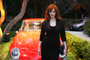 """Jaguar and Playboy Magazine VIP Reception""Christina Hendricks08-17-2012 / Pebble Beach, California© 2012 Ron Avery - Image 24248_0001"