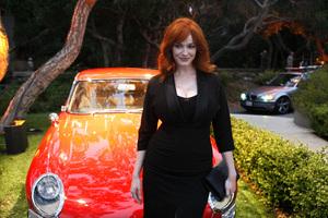 """Jaguar and Playboy Magazine VIP Reception""Christina Hendricks08-17-2012 / Pebble Beach, California© 2012 Ron Avery - Image 24248_0002"