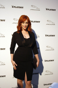 """Jaguar and Playboy Magazine VIP Reception""Christina Hendricks08-17-2012 / Pebble Beach, California© 2012 Ron Avery - Image 24248_0004"