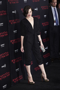 """Resident Evil: Retribution"" Premiere Milla Jovovich9-12-2012 / Regal Cinemas L.A. Live / Screen Gems / Los Angeles CA / Photo by Benny Haddad - Image 24252_0085"