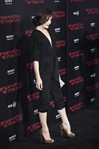 """Resident Evil: Retribution"" Premiere Milla Jovovich9-12-2012 / Regal Cinemas L.A. Live / Screen Gems / Los Angeles CA / Photo by Benny Haddad - Image 24252_0086"