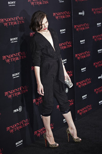 """Resident Evil: Retribution"" Premiere Milla Jovovich9-12-2012 / Regal Cinemas L.A. Live / Screen Gems / Los Angeles CA / Photo by Benny Haddad - Image 24252_0087"