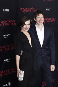 """Resident Evil: Retribution"" Premiere Milla Jovovich, Paul W.S. Anderson9-12-2012 / Regal Cinemas L.A. Live / Screen Gems / Los Angeles CA / Photo by Benny Haddad - Image 24252_0096"