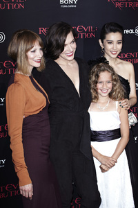"""Resident Evil: Retribution"" Premiere Milla Jovovich, Sienna Guillory, Aryana Engineer, Bingbing Li9-12-2012 / Regal Cinemas L.A. Live / Screen Gems / Los Angeles CA / Photo by Benny Haddad - Image 24252_0112"