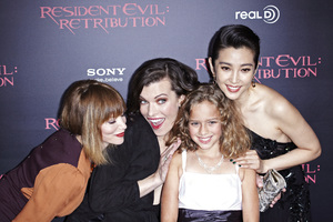 """Resident Evil: Retribution"" Premiere Milla Jovovich, Sienna Guillory, Aryana Engineer, Bingbing Li9-12-2012 / Regal Cinemas L.A. Live / Screen Gems / Los Angeles CA / Photo by Benny Haddad - Image 24252_0114"