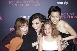 """Resident Evil: Retribution"" Premiere Milla Jovovich, Sienna Guillory, Aryana Engineer, Bingbing Li9-12-2012 / Regal Cinemas L.A. Live / Screen Gems / Los Angeles CA / Photo by Benny Haddad - Image 24252_0115"