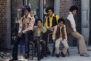 The Jackson 5 (Marlon, Jermaine, Jackie, Michael, Tito)1972© 1978 Paul Slaughter - Image 24262_0035