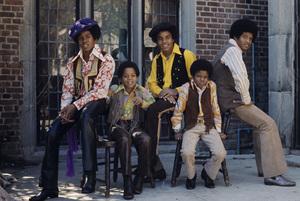 The Jackson 5 (Marlon, Jermaine, Jackie, Michael, Tito)1972© 1978 Paul Slaughter - Image 24262_0035