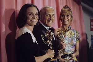 Valerie Harper, Ted Knight and Mary Tyler Moore at the Emmy Awards1974© 1978 Paul Slaughter - Image 24262_0037