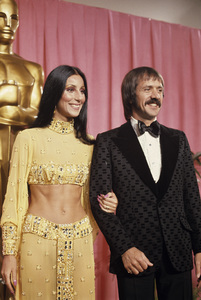 Sonny and Cher Bono at the Academy Awards1973© 1978 Paul Slaughter - Image 24262_0045