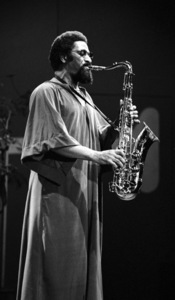 Sonny Rollins playing tenor saxophone at the Monterey Jazz Festival1972© 1978 Paul Slaughter - Image 24262_0120