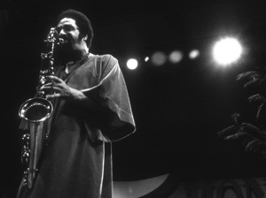 Sonny Rollins playing tenor saxophone at the Monterey Jazz Festival1972© 1978 Paul Slaughter - Image 24262_0121