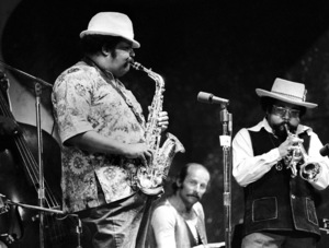 "Nat and Julian Edwin ""Cannonball"" Adderley at the Monterey Jazz Festival1970© 1978 Paul Slaughter - Image 24262_0137"